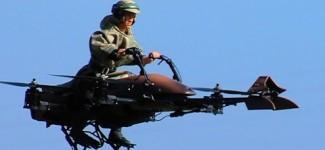 Star Wars Flying Speeder Bike is RC Quadcopter