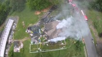 Fire Department Shoots At Drone With Fire Hose