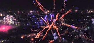 Oud en Nieuw 2015 Heerlen Drone fly Firework
