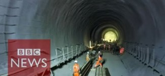 Flying a drone through Crossrail tunnels