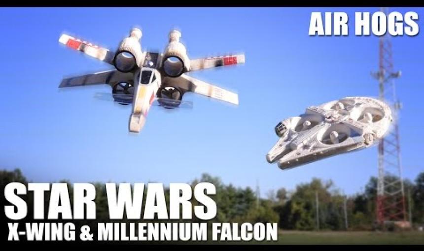 Star Wars X-Wing & Millennium Falcon by Air Hogs | Flite Test
