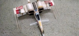 Very Modified Air Hogs Star Wars: Episode VII  Remote Control X-Wing Starfighter