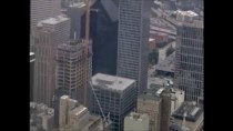 Amazing Sky Scraper Rescue of Window Cleaner Caught by Drone