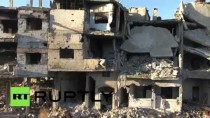 Syria: Drone footage shows full scale of destruction in Homs