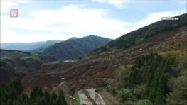 Japan drone footage showing landslides and seismic faults after powerful quakes