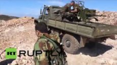 Syria: Drone footage captures Syrian Army battling Al-Nusra in Latakia