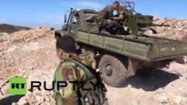 Syria: Drone footage captures Syrian Army battling Al-Nusra in Latakia