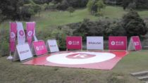 Rakuten's new drone delivery service at the golf course!